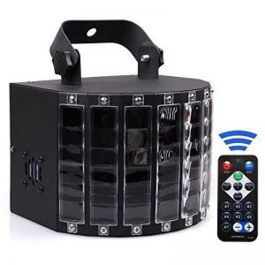 U`King ZQ-B63 30W 4 Modes 6-CH 8 Colors 120-Degree Lighting Angle LED Stage Light US Plug Black