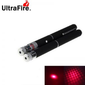 2pcs Ultrafire Mini Star Style 5mW Red Laser Pointers Flashlights Black