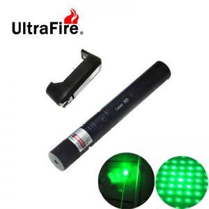 Ultrafire 5mW 532nm Star Green Light Laser Pointer Black