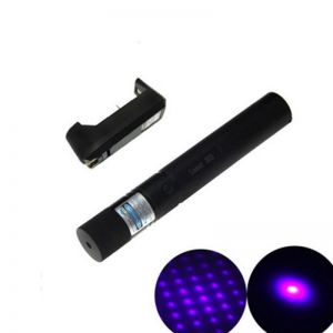 Ultrafire 5mW 405nm Star Purple Light Laser Pointer Black