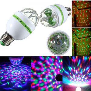 E27 3W RGB LED Rotating Bulb Stage Bar Party Lamp (AC 85-260V) Green