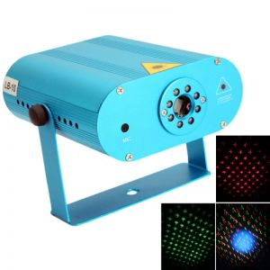 LB-10 100V-220V 650nm & 532nm Voice-activated Mini Red & Green Laser Stage lighting Light Blue