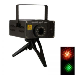D011 110V-240V 650nm & 532nm Voice-control Mini Red & Green Laser Stage Laser Light Black