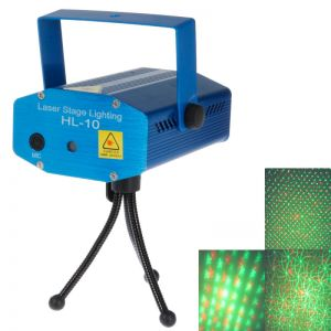 LT-10 Stage Lighting LED Red + Green Laser Stage Light (Laser Light + Charger + Tripod)