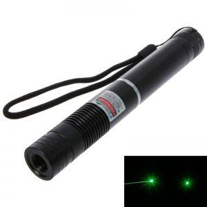 5mW 532nm Focus Green Beam Light Laser Pointer Pen Black