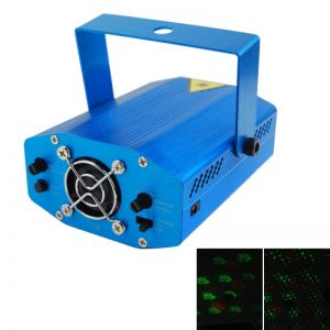 20-in-1 Red Green Light Laser Stage Lighting Blue