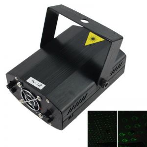 20-in-1 Mini Red Green Light Laser Stage Lighting Black