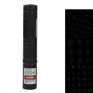 5mW 532nm Starry Sky Green Light Laser Pointer with Charger Black (1*LC16340)