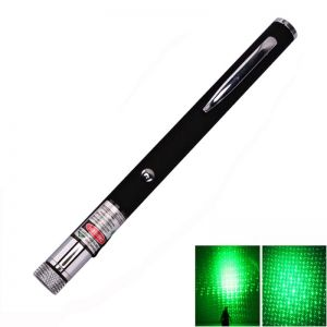 5mW 532nm Open-back Kaleidoscopic Green Laser Pointer Pen (2*AAA)
