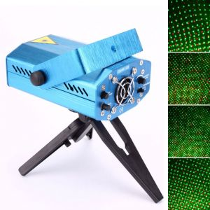 Sound Active DJ Dance Studio Mini Red & Green Laser Stage Lighting Blue
