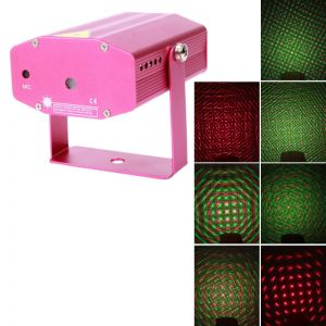 Fireworks Red & Green Mini Laser Stage Lighting with Different Pattern Red