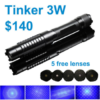 Tinker 3W Burning Laser Pointer -  The most popular handheld class 4 burning laser